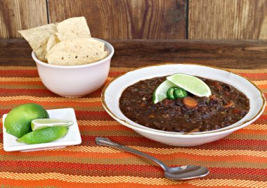 Black Bean Soup with Fresh Lime