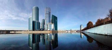 Panorama of the international business centre (City), Moscow, Russia