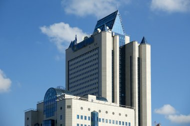 HIGH-TECH STYLE BUILDING. Gazprom headquarters in Moscow