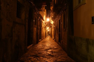 Ancient streets of Syracuse, Sicily, Italy