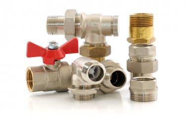 Metal parts for plumbing and sanitary equipment