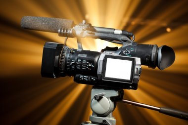 Professional video camera with copy-space