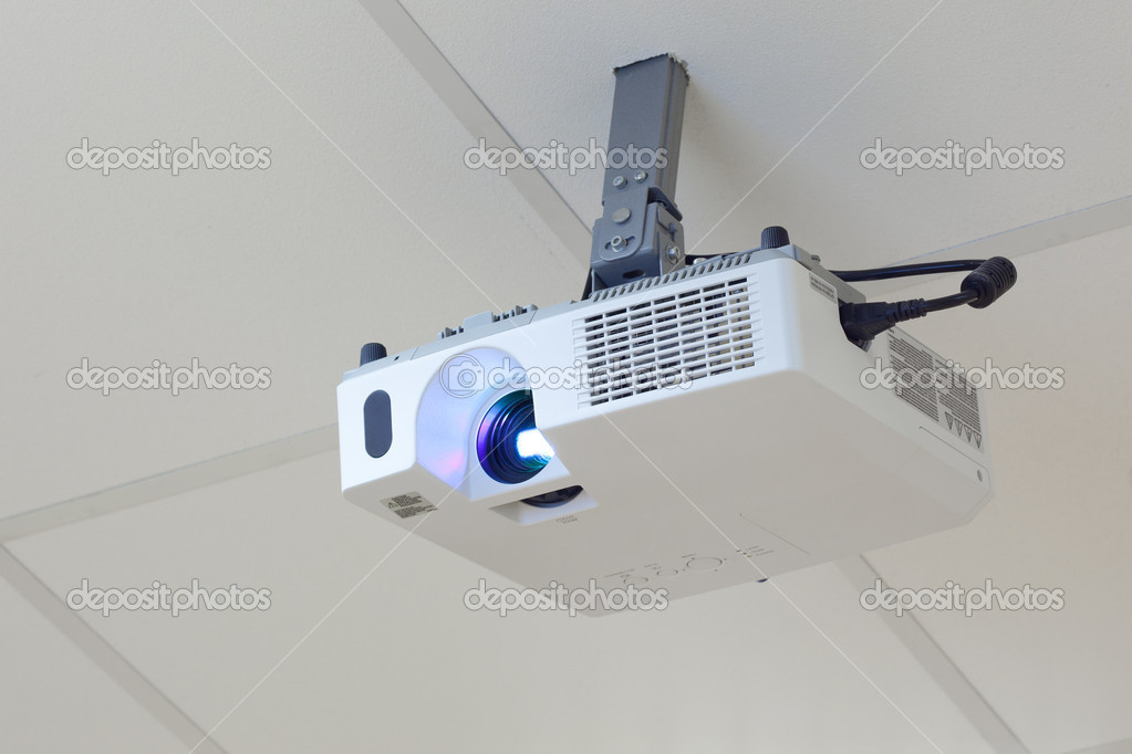 Projector on the ceiling ⬇ Stock Photo, Image by © nikkytok #10236068