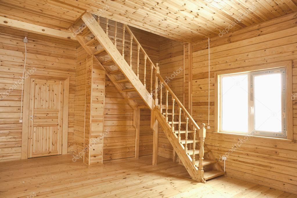 Houten huis interieur stockfoto nikkytok 10236525 - Interieur gevelbekleding houten ...