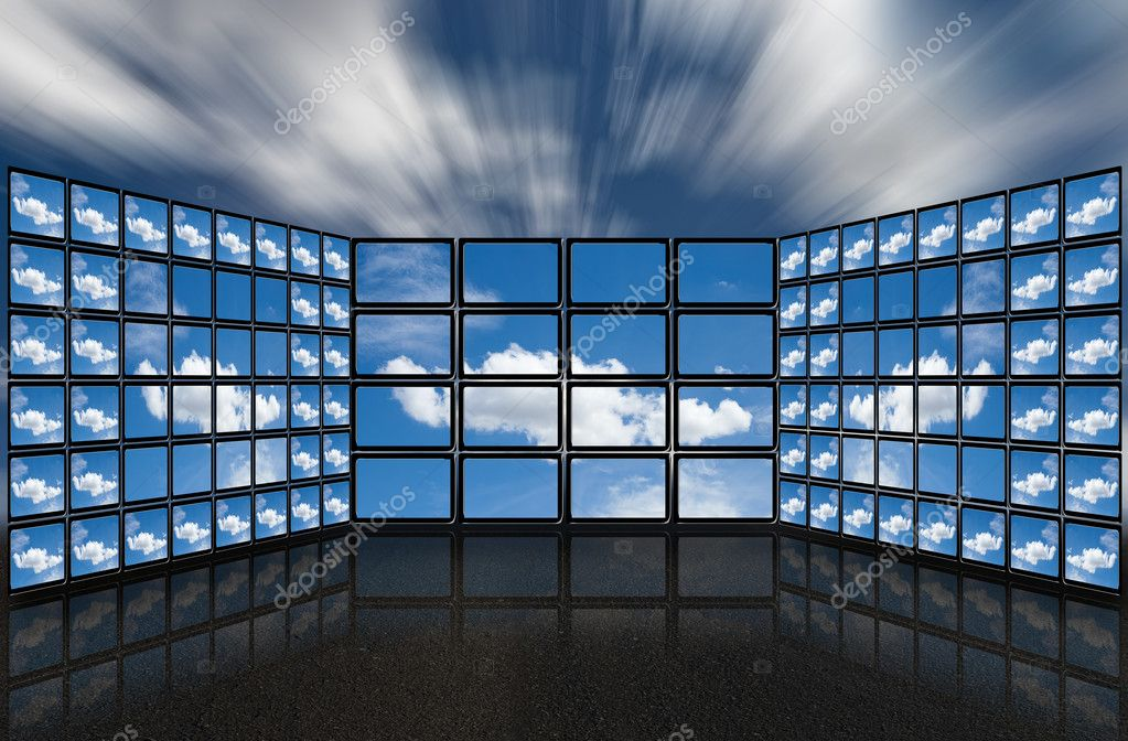 Clouds in the screens.