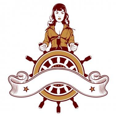 Woman sailor emblem