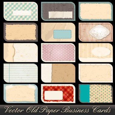 Set of old business card illustrations