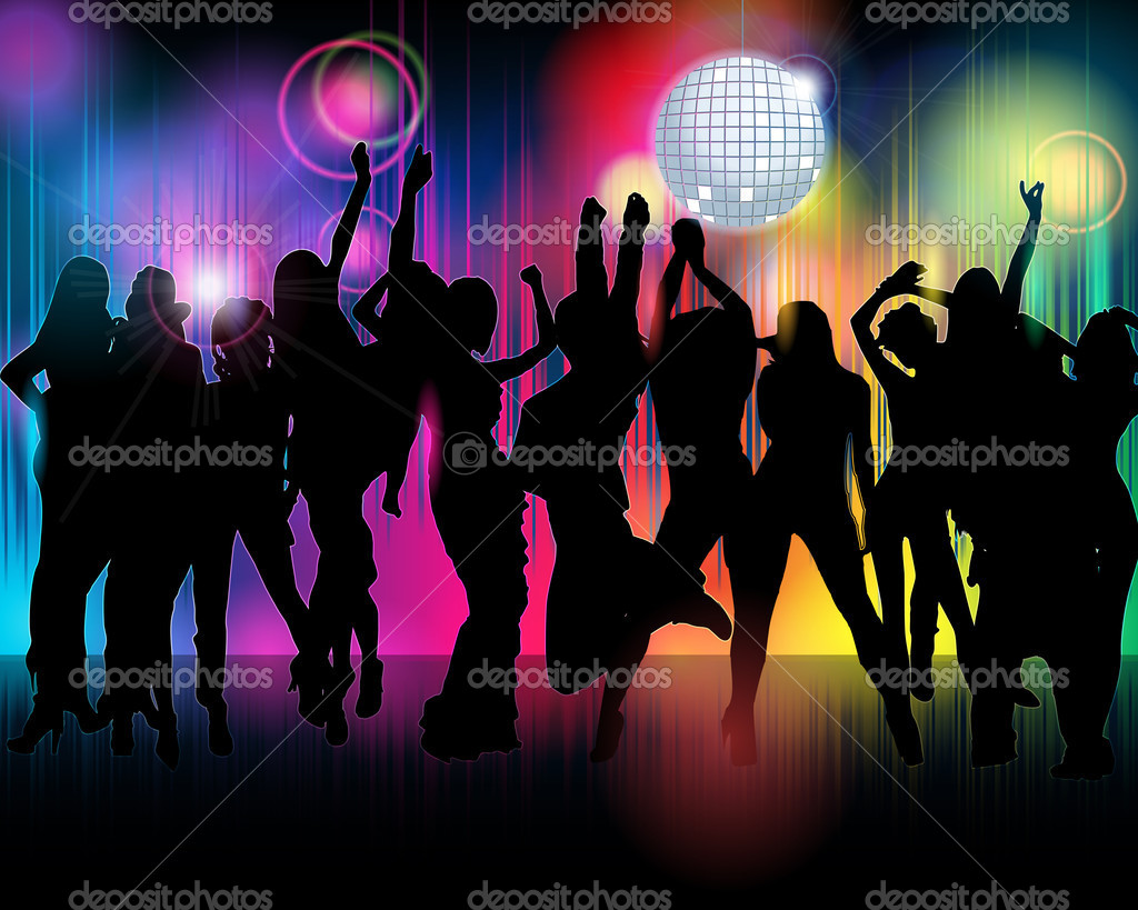 Crowd of party illustration