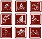 Bikes icons.