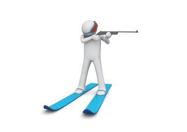 Biathlonist aiming 2