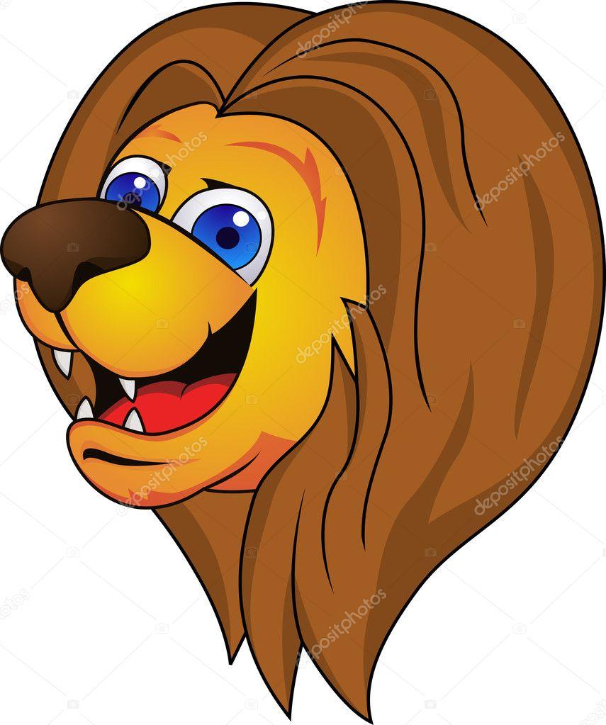 Lion Head Cartoon — Stock Vector © dagadu #8744509 for Lion Face Animation  104xkb