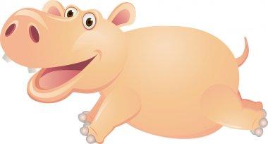 Hippo cartoon running