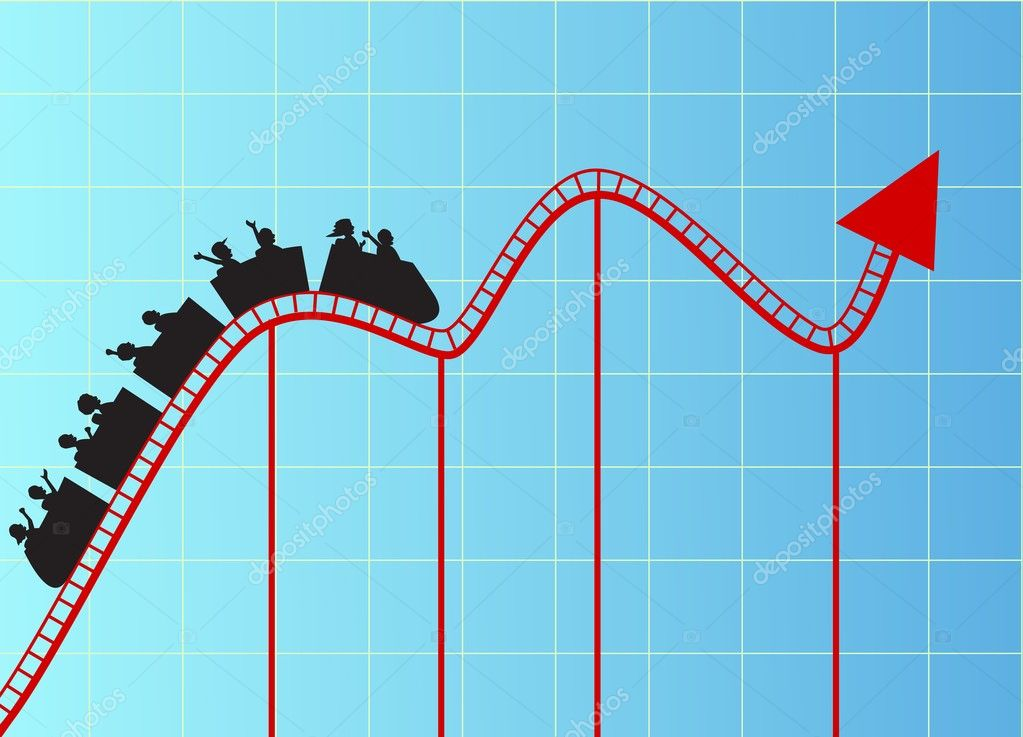 Roller Coaster Graph Stock Vector 169 Dagadu 9458132