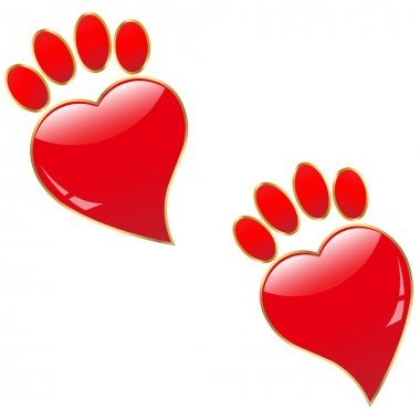Traces of Love.Vector