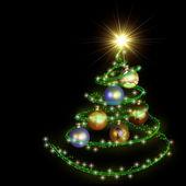 abstraktní vánoční strom spirála