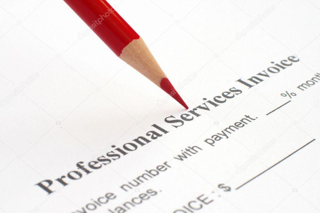 professional service invoice stock photo