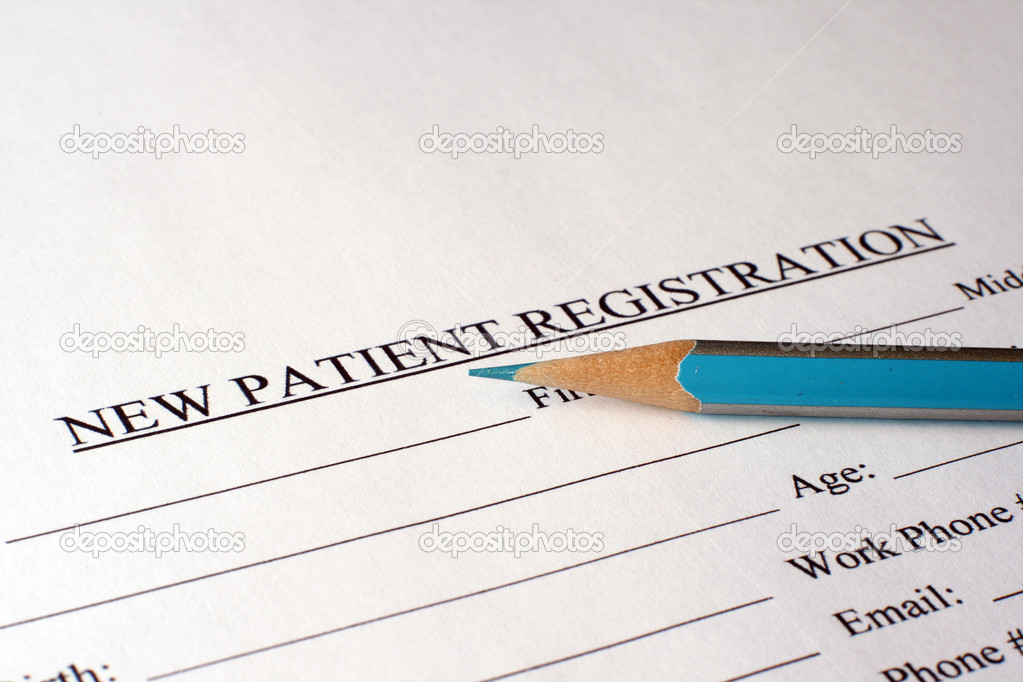 Patient Registration Form  Stock Photo  Alexskopje