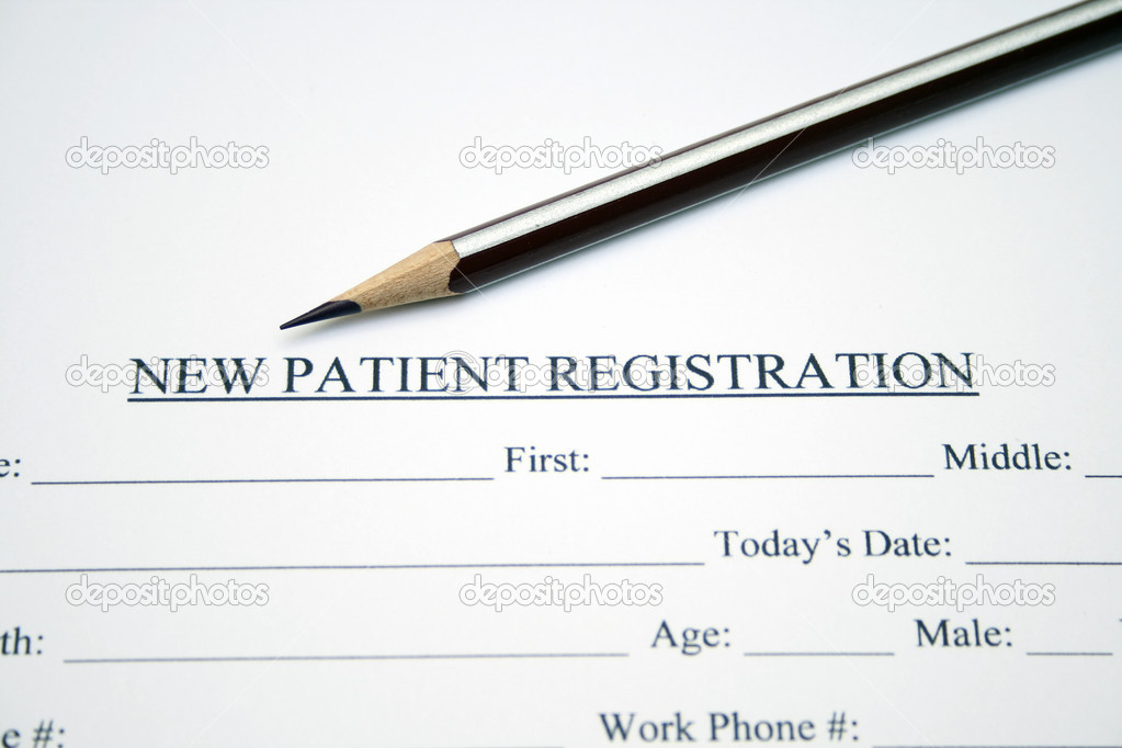 Patient Registration Form — Stock Photo © Alexskopje #9785014