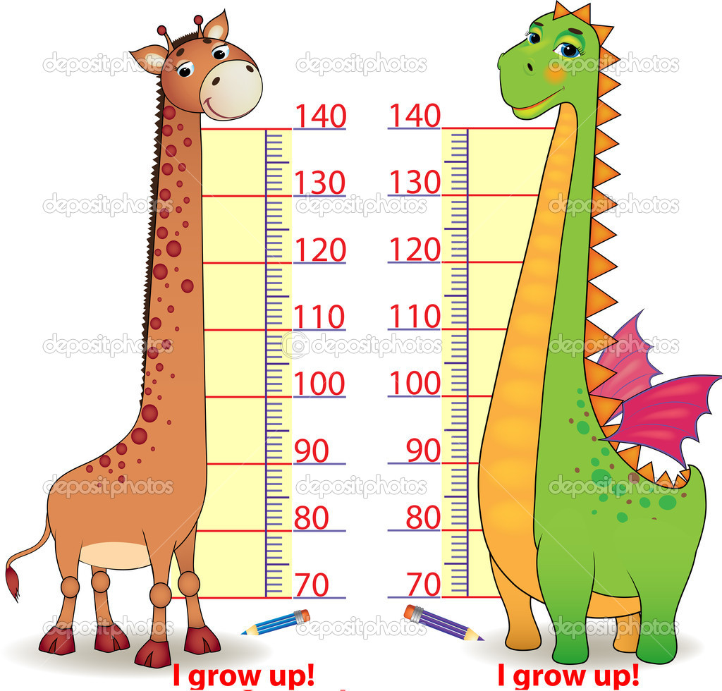 Stadiometers for children with cute Dragon and Giraffe