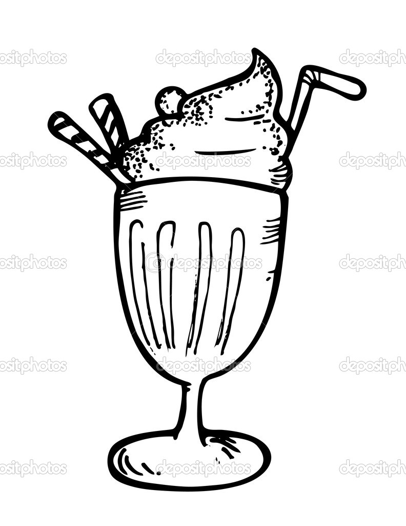 ice cream float with straw  u2014 stock vector  u00a9 mhatzapa  9560373