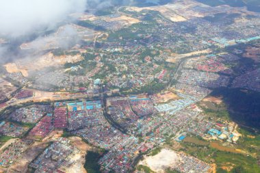 Aerial picture of non-urban city