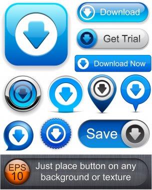 Download high-detailed modern buttons.