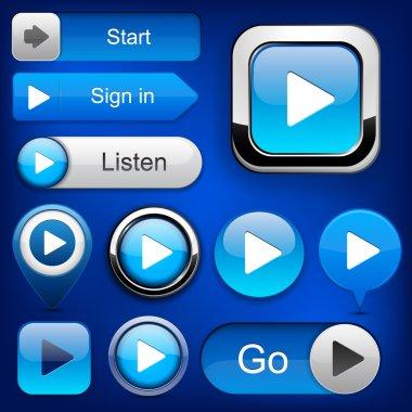 Play high-detailed modern buttons.