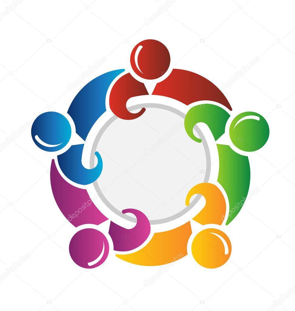 Team around circle