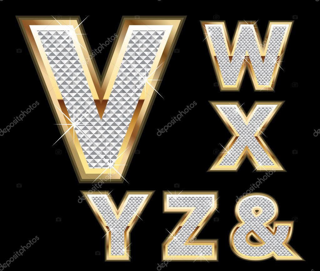 Set diamond gold letters v z stock vector deskcube 10378424 set diamond gold letters v z stock vector biocorpaavc Image collections