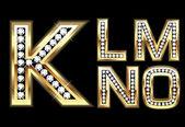 Set Diamond Gold Letters K-O