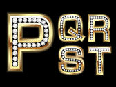 Set Diamond Gold Letters P-T