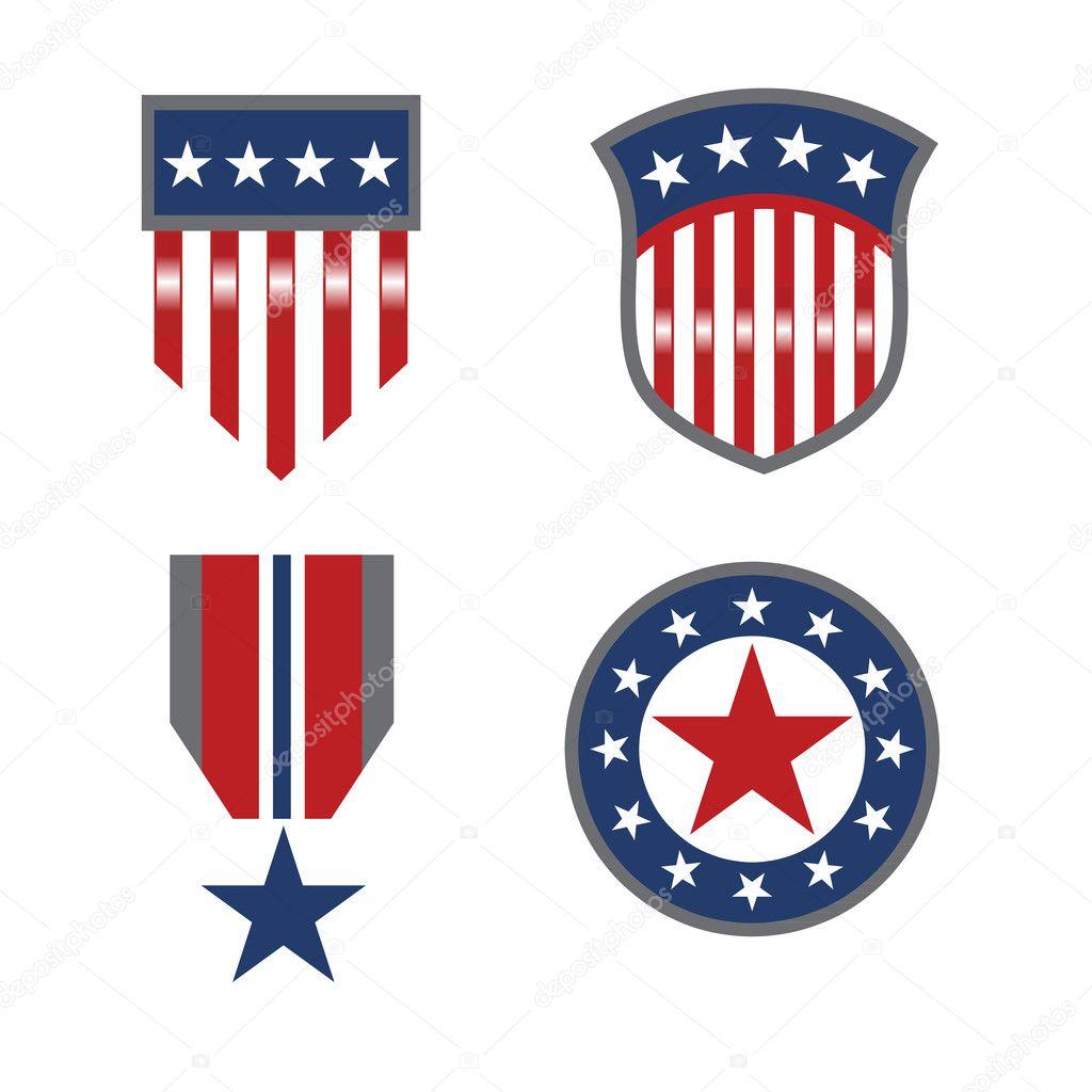 Usa patriotic symbols stock vector deskcube 9571695 usa patriotic symbols stock vector buycottarizona Choice Image
