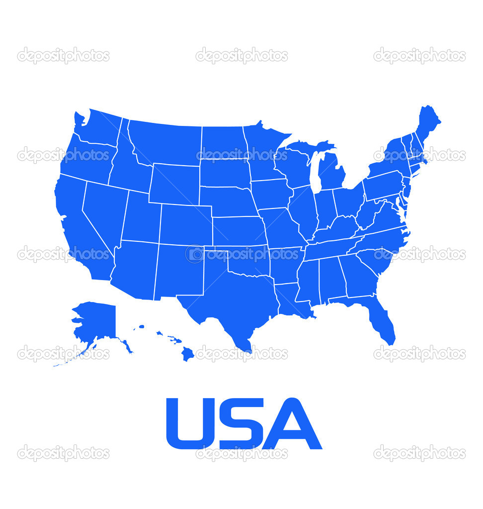 Usa Map With States Stock Vector Deskcube - Usa map of states