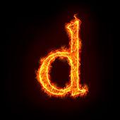 Fotografie Fire alphabets, small letter d