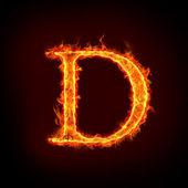 Fotografie Fire alphabets, D