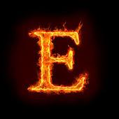 Fotografie Fire alphabets, E