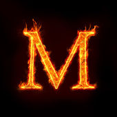 Fotografie Fire alphabets, M