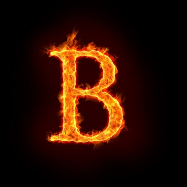 Fire alphabets, B