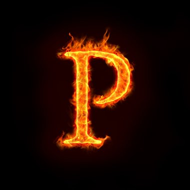 Fire alphabets, P