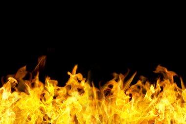 Seamless fire flames border