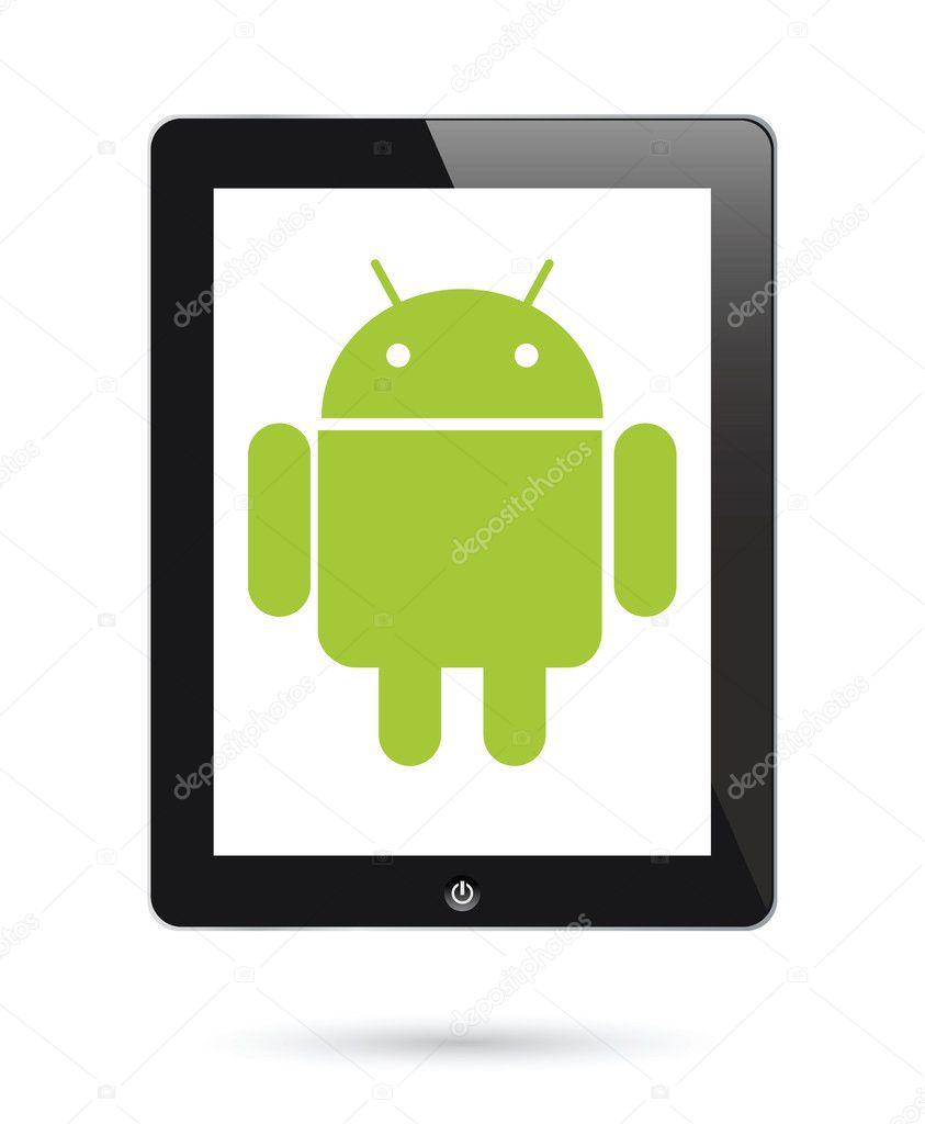 syst me d 39 exploitation android pour les tablettes num riques image vectorielle mtkang 8580780. Black Bedroom Furniture Sets. Home Design Ideas