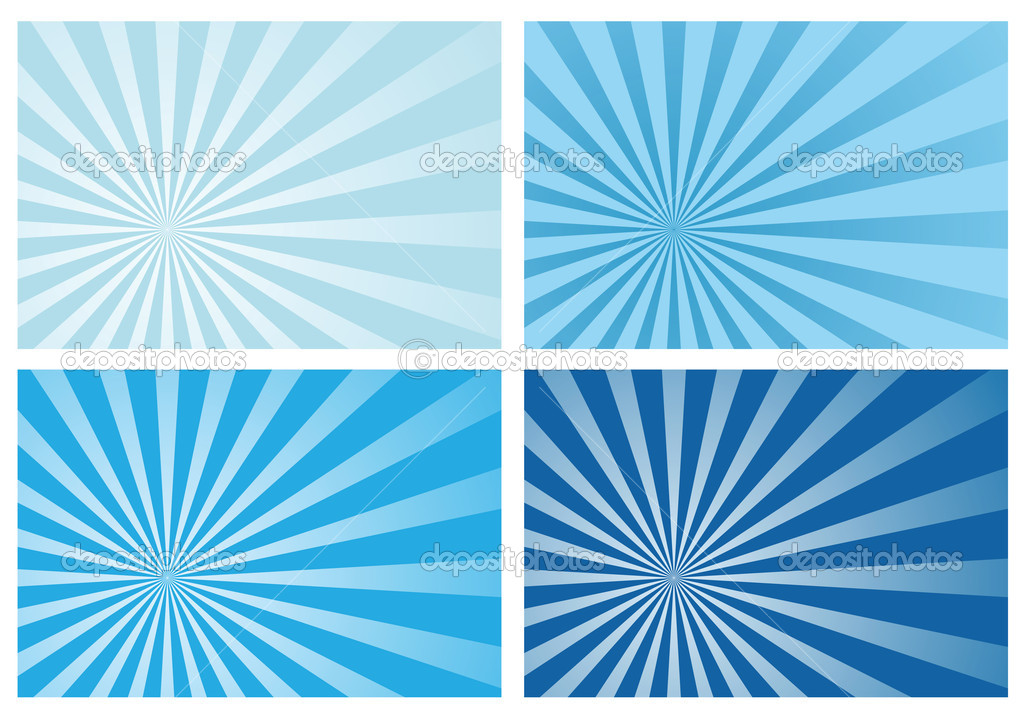 blue burst rays background