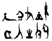 Fotografia sagome di yoga