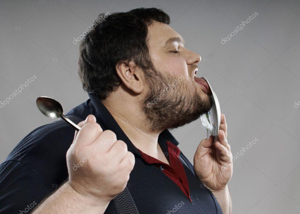 Lustige dicke essen schokolade kuchen stockfoto for Kuchenstudio essen