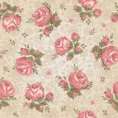 Vintage seamless floral pattern stock vector