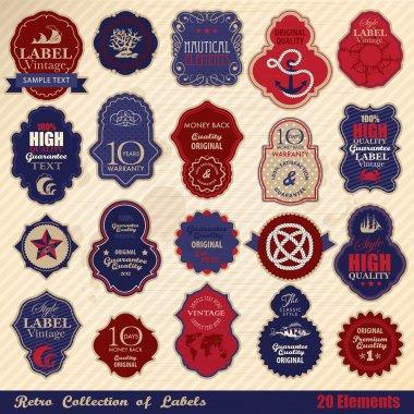Retro label collection