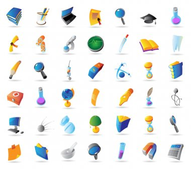 Icons for science and education