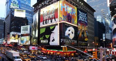 Broadway show advertisements