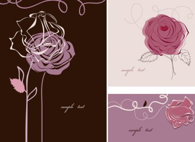 Roses card collection