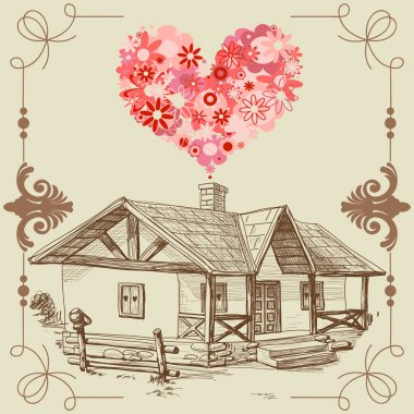 House of love, happy family concept